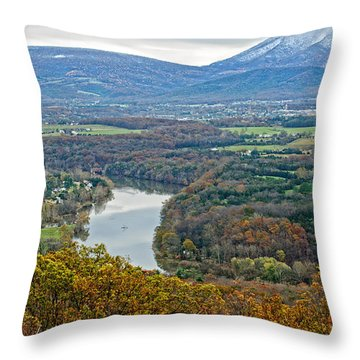 Shenandoah Fall And Winter Throw Pillow by Lara Ellis