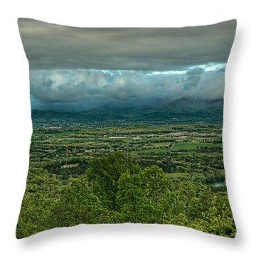 Shenandoah Green Valley Throw Pillow by Lara Ellis