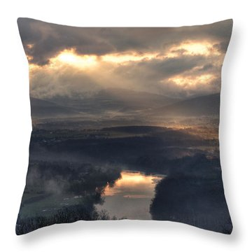 Shenandoah Light Throw Pillow by Lara Ellis