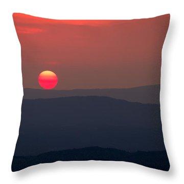 Shenandoah Sunset Throw Pillow