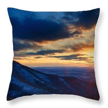 Shenandoah Sunset Throw Pillow by Joan Carroll