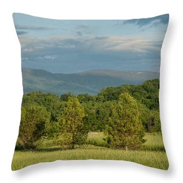 Shenandoah Valley May View Throw Pillow by Lara Ellis