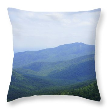 Shenandoah View Throw Pillow by Laurie Perry