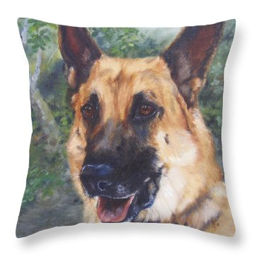 Shep Throw Pillow by Lori Brackett