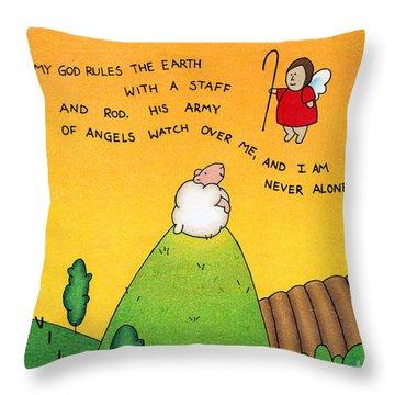 Shepherd Angel Throw Pillow by Sarah Batalka