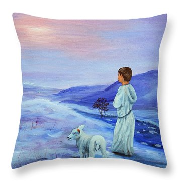 Shepherd Boy Throw Pillow
