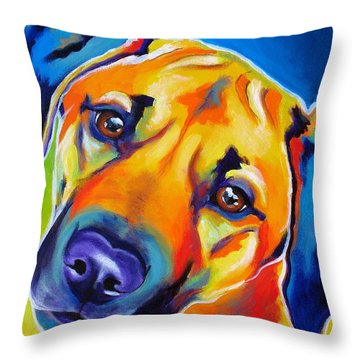 Rhodesian Ridgeback - Puppy Dog Eyes Throw Pillow