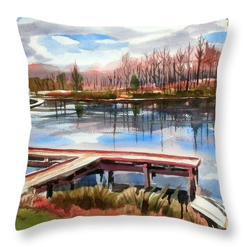 Shepherd Mountain Lake In Winter Throw Pillow