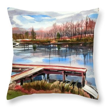 Shepherd Mountain Lake In Winter Throw Pillow