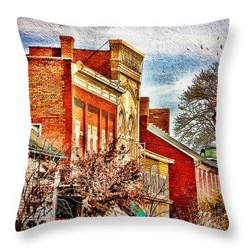 Shepherdstown - East German Street In November Throw Pillow