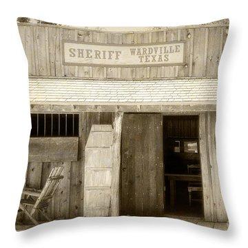 Sheriff Office Throw Pillow