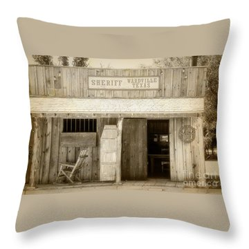 Sheriff Office Throw Pillow