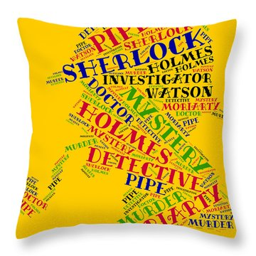 Sherlock Holmes Throw Pillow by Bruce Nutting