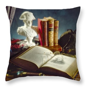 Sherlock Holmes Napoleon Throw Pillow by Martin Konopacki