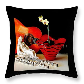 Throw Pillow featuring the photograph Sherrie's Delight by Elf Evans