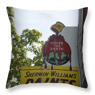 Sherwin Williams Throw Pillow by Laurie Perry