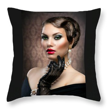 She's Got Class Throw Pillow by Karen Showell