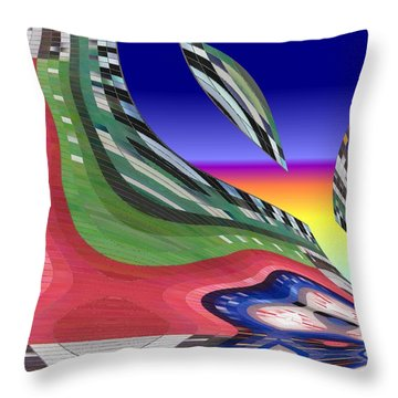 She's Leaving Home Abstract Throw Pillow