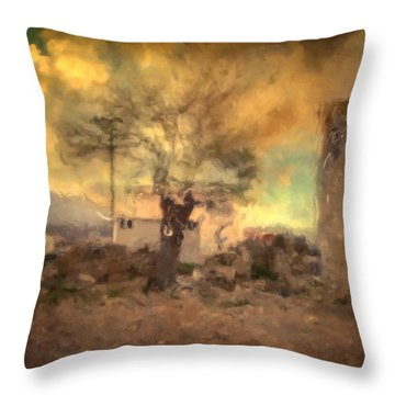 She's Like The Wind ...through My Tree Throw Pillow by Taylan Apukovska