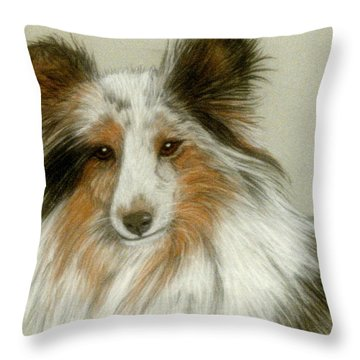 Shetland Collie Throw Pillow by Jan Amiss