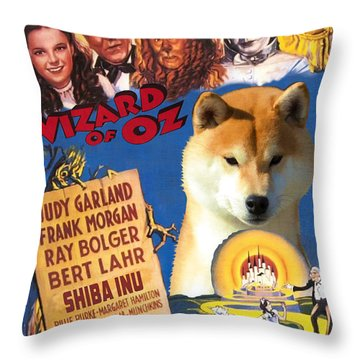 Shiba Inu Art Canvas Print - The Wizard Of Oz Movie Poster Throw Pillow