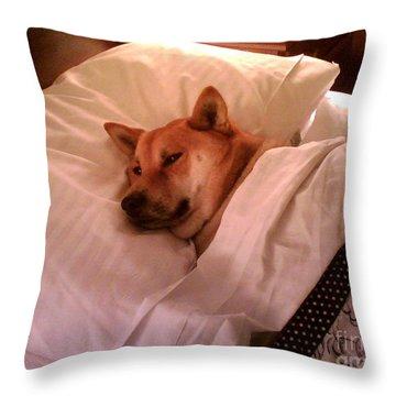 Shiba Inu Kobi-1 Throw Pillow