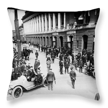 Shibe Park 1914 Throw Pillow by Bill Cannon