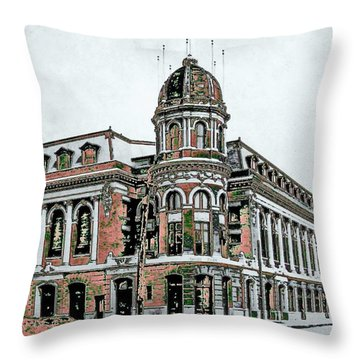 Shibe Park Throw Pillow by John Madison
