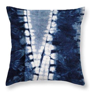 Shibori 3 Throw Pillow