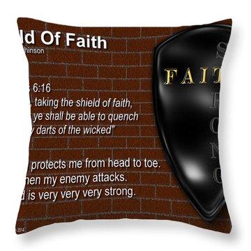 Shield Of Faith Throw Pillow