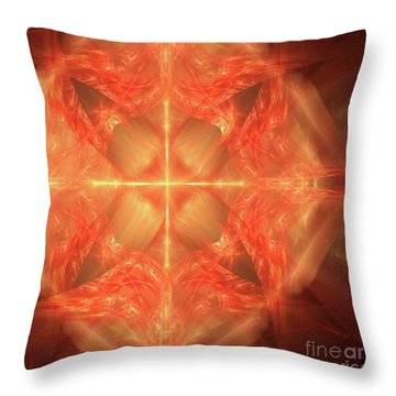 Throw Pillow featuring the digital art Shield Of Faith by Margie Chapman