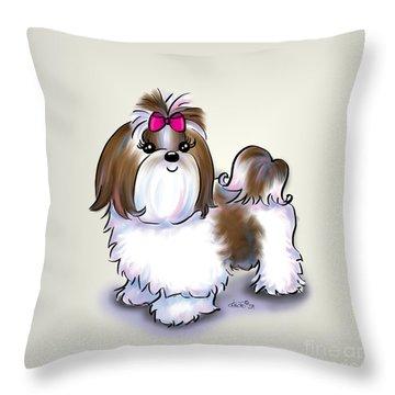 Shih Tzu Beauty Throw Pillow by Catia Cho