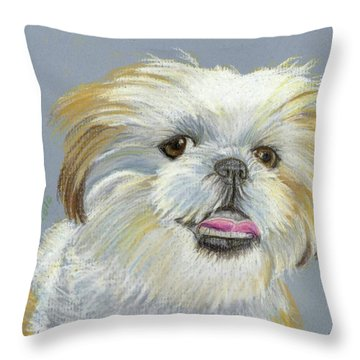 Shih Tzu Throw Pillow by Ruth Seal