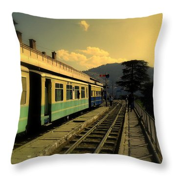 Shimla Railway Station Throw Pillow