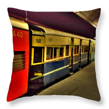Shimla Toy Train Throw Pillow by Salman Ravish