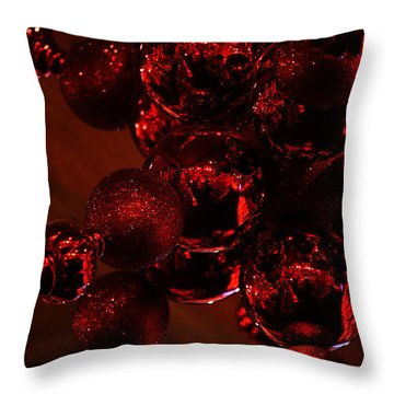 Throw Pillow featuring the photograph Shimmer In Red by Linda Shafer
