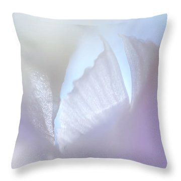 Shimmering Light. Iris Series Throw Pillow by Jenny Rainbow