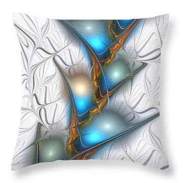 Shimmering Lights Throw Pillow by Anastasiya Malakhova