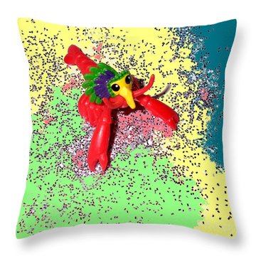 Throw Pillow featuring the photograph Shimmering Lobster by Joseph Baril