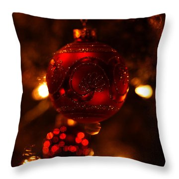 Throw Pillow featuring the photograph Shimmering Reflection by Linda Shafer