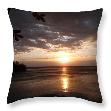 Throw Pillow featuring the photograph Shimmering Sunrise by James Peterson