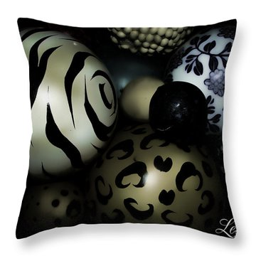 Shimmery Spheres Throw Pillow