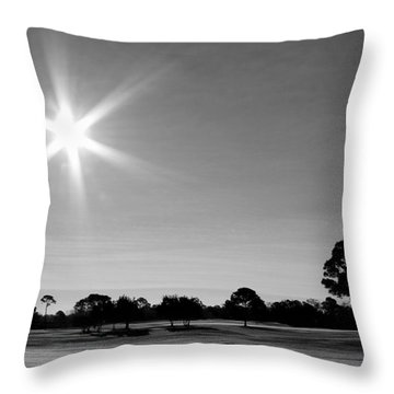 Throw Pillow featuring the photograph Shine And Rise by Faith Williams
