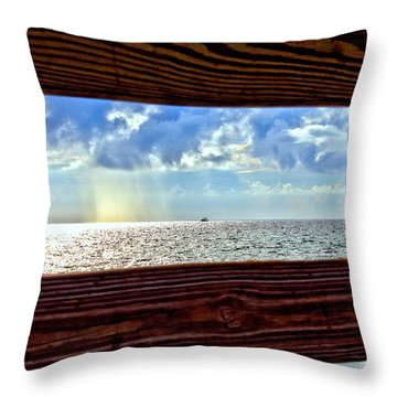 Throw Pillow featuring the photograph Shine It Down by Tyson Kinnison