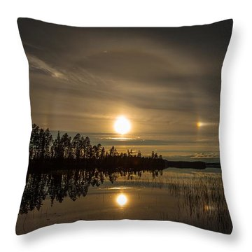 Throw Pillow featuring the photograph shine like a Halo by Rose-Maries Pictures