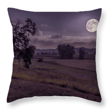 Throw Pillow featuring the photograph Shine On Harvest Moon by Jaki Miller