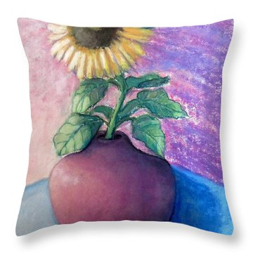Shine On Me Throw Pillow by Laurie Morgan