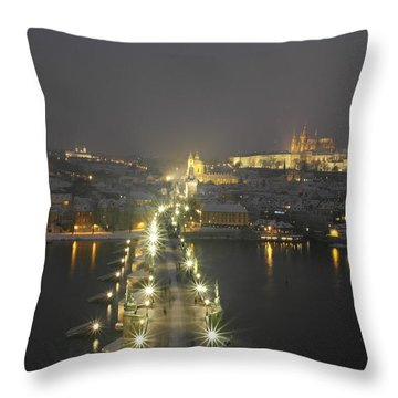 Shinigh Prague Throw Pillow