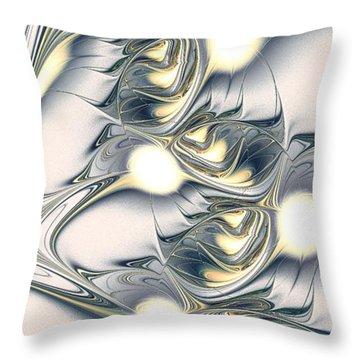 Shining Throw Pillow by Anastasiya Malakhova