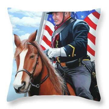 Shining Glory Throw Pillow